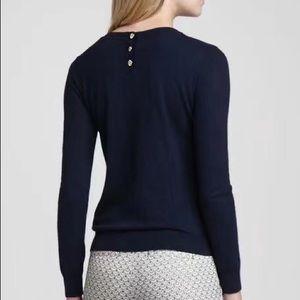 Tory Burch Navy Wool Sweater